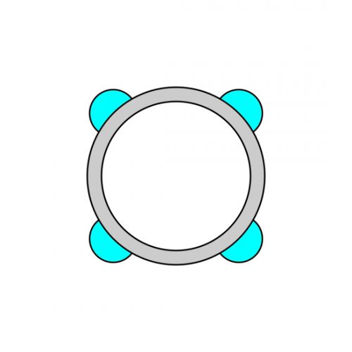43 MM ALU RING 100